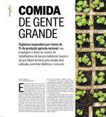 Caderno Amanhã do O Globo -  Matéria sobre produtos e alimentos orgânicos